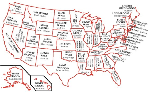 • One exception teenager for each of the 50 states.