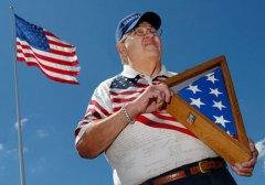 Robert Heft with flag