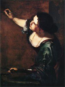 Artemisia Gentileschi: self-portrait