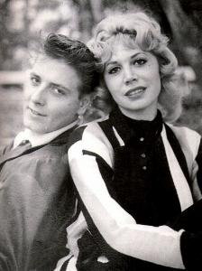Sharon Sheeley with Eddie Cochran.