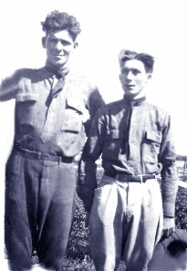 My Grandpa McQuade (right) with his much-taller brother Clarence sometime around 1918.