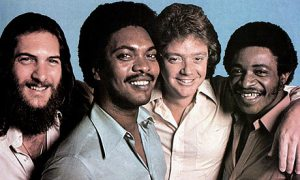 "Booker T and the MG's in 1971 with (left to right) Steve Cropper, Booker T Jones, Donald ""Duck"" Dunn and Al Jackson."